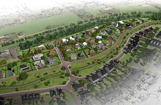 Nieuwe villawijk in Voorthuizen
